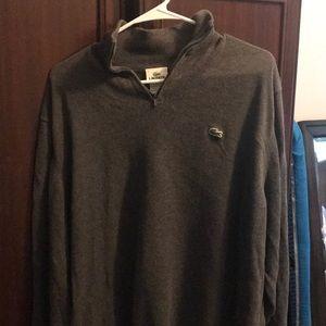 Lacoste sweater. 1/4 zip. XL.